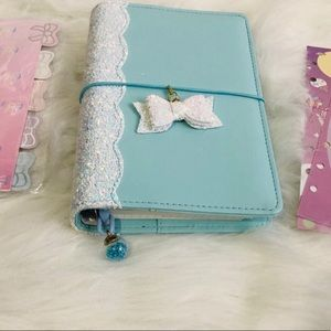 Undated planner traveler with charms & stickers